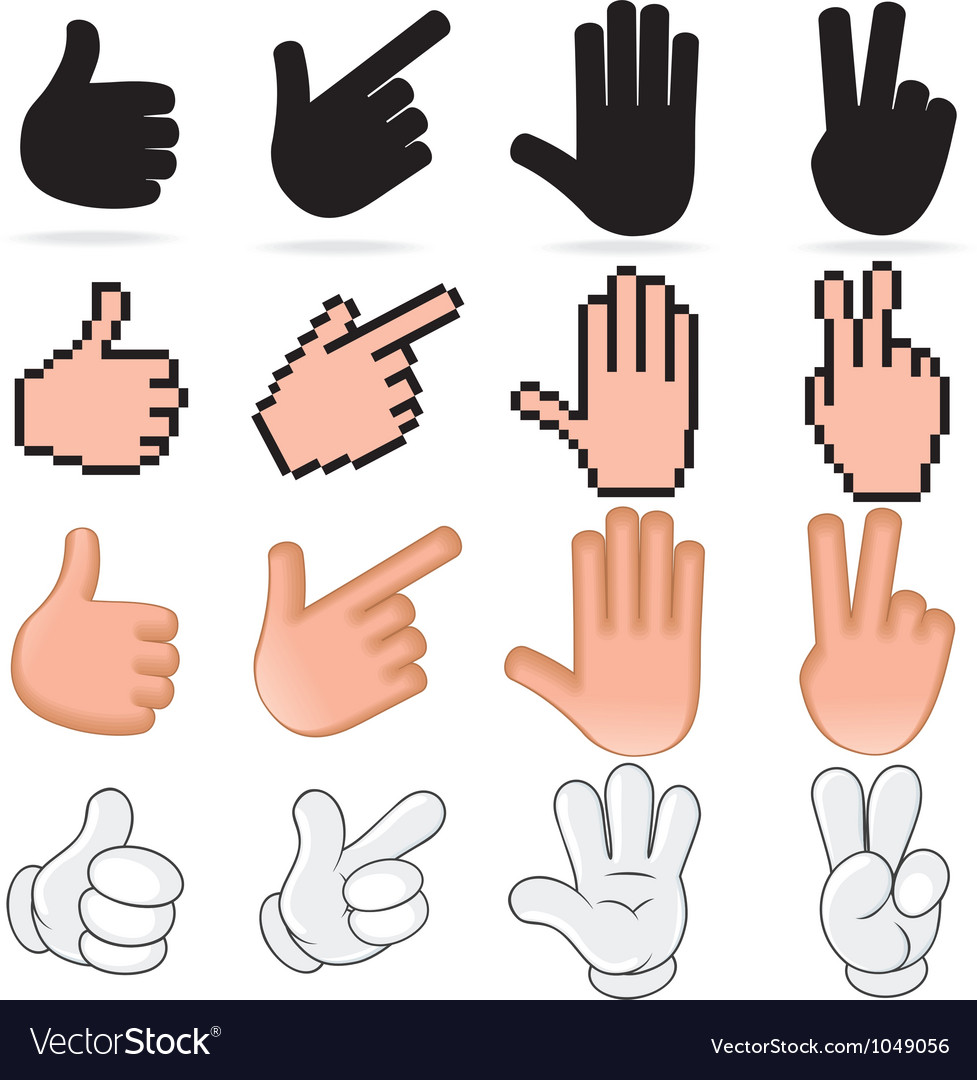 Stylized Hands vector image