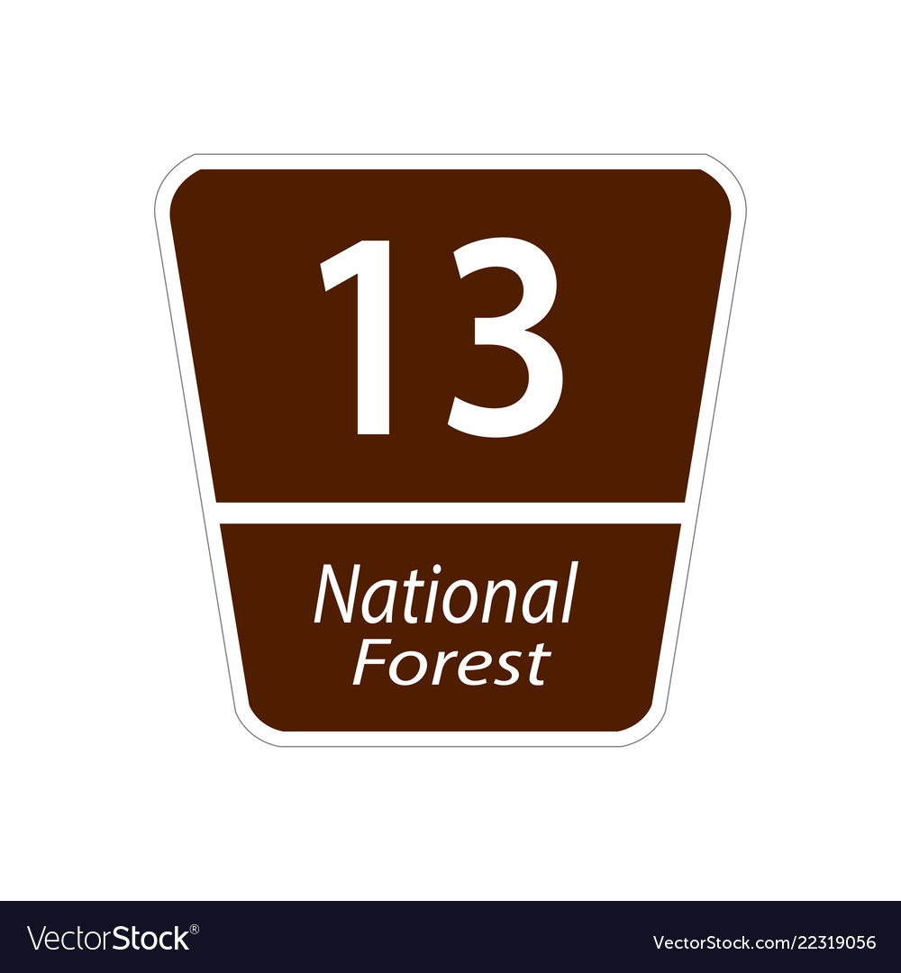 Usa traffic road signs national forest road sign