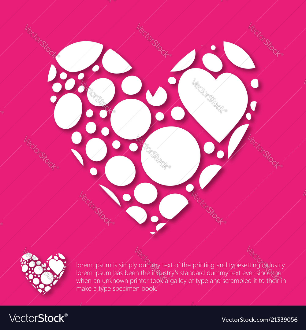 Valentines Day Greetings Card Pink Background Vector Image