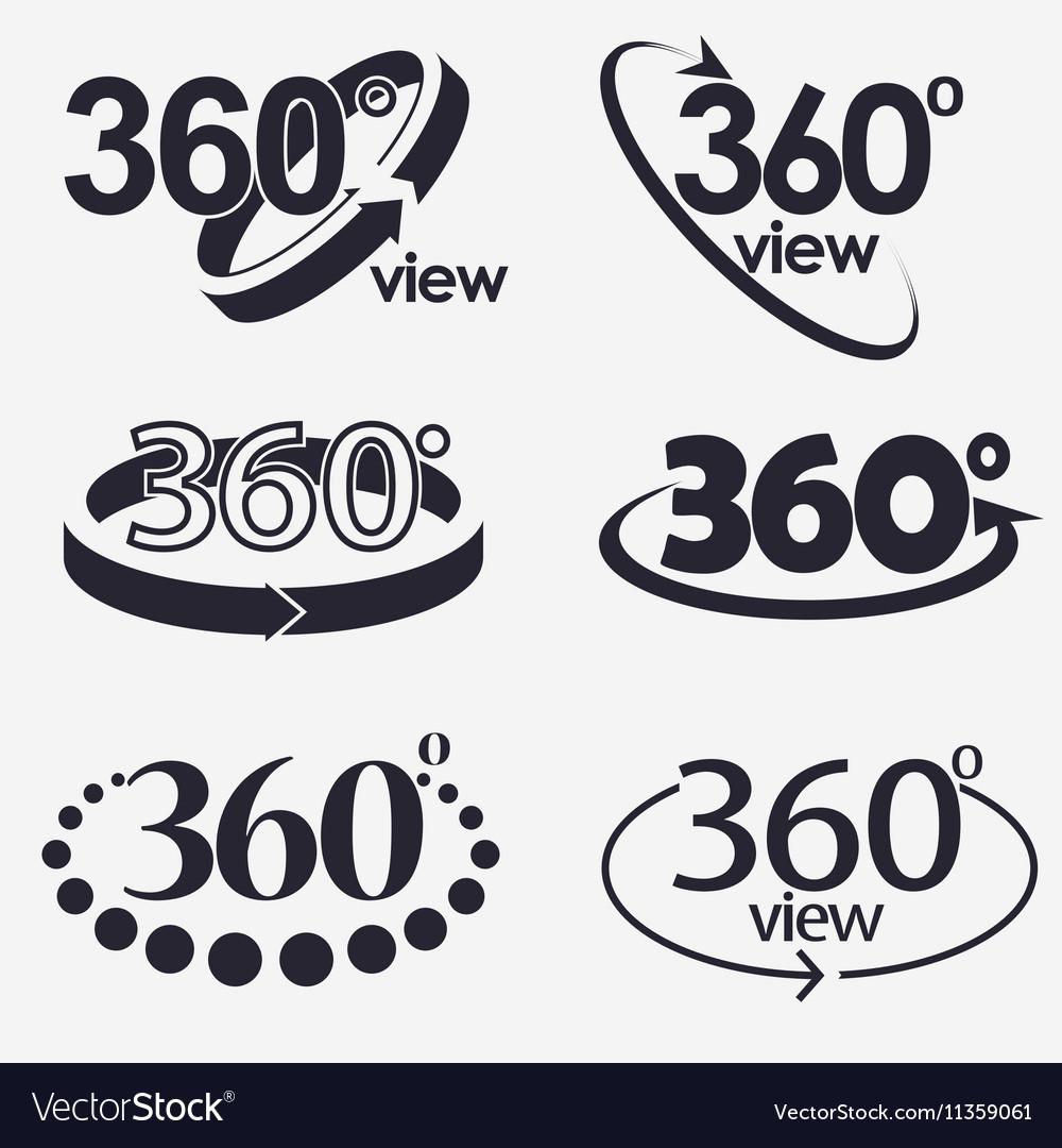 360 Degrees View Icon