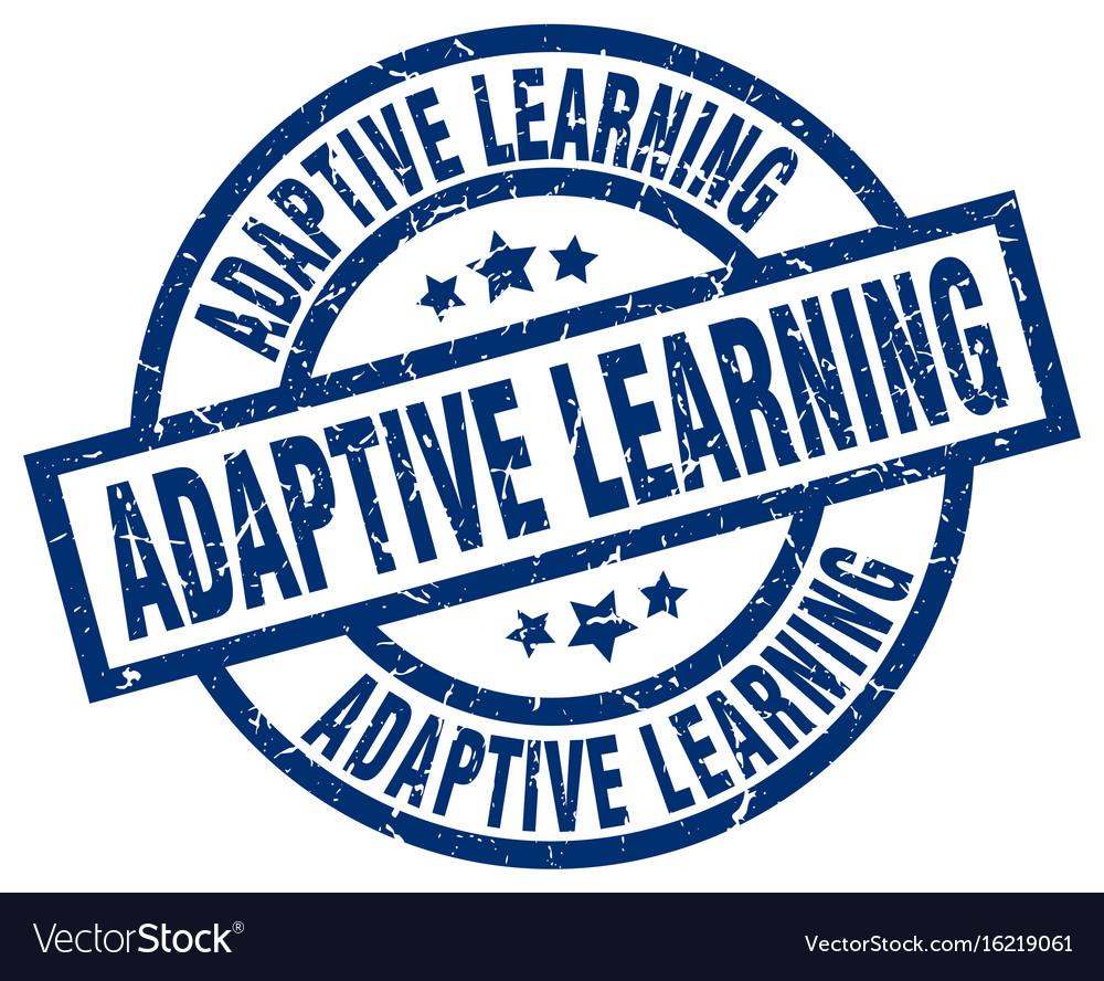 Adaptive learning blue round grunge stamp