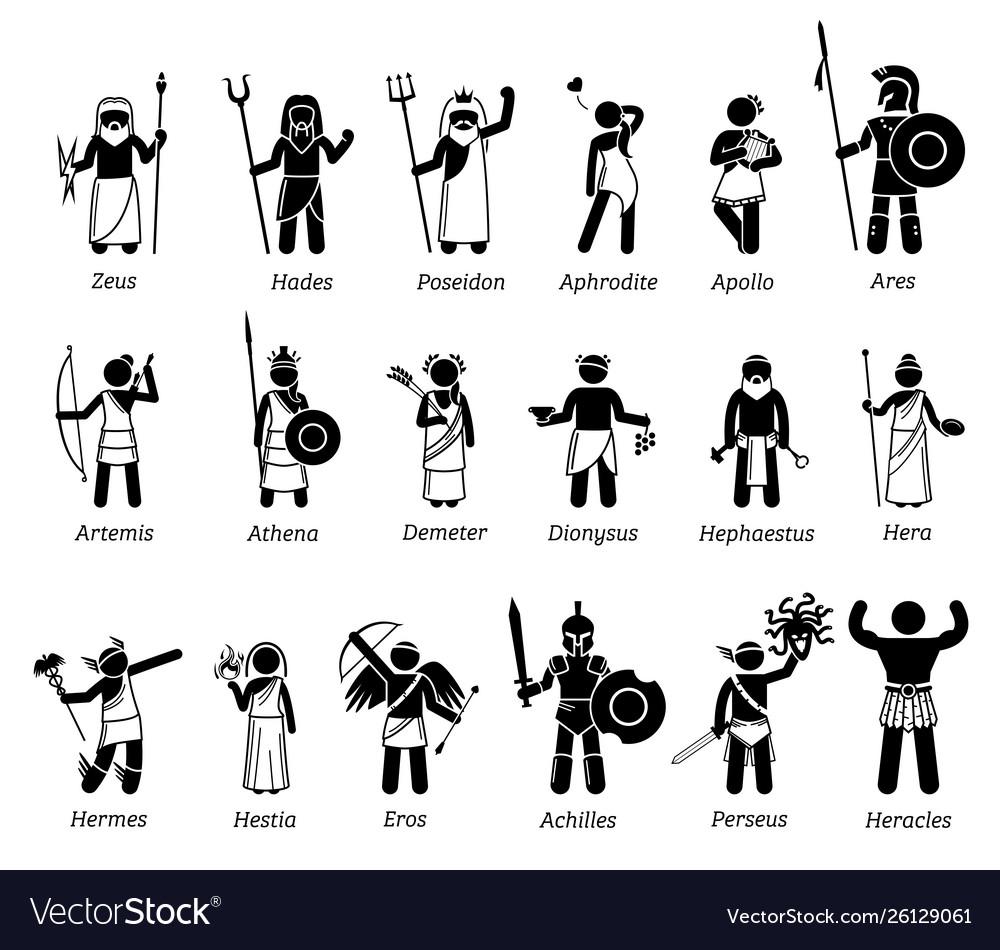 Ancient greek mythology gods and goddesses