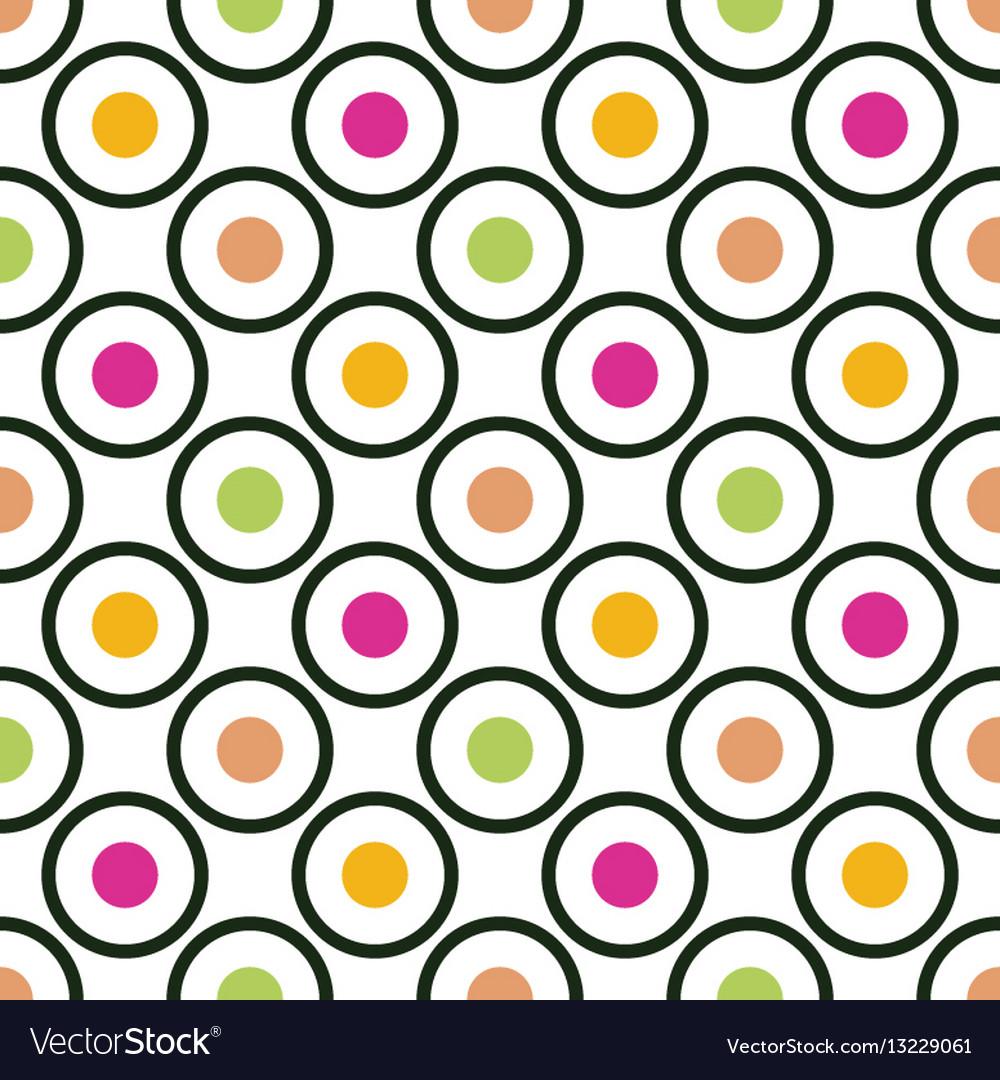 Circles and dots seamless pattern