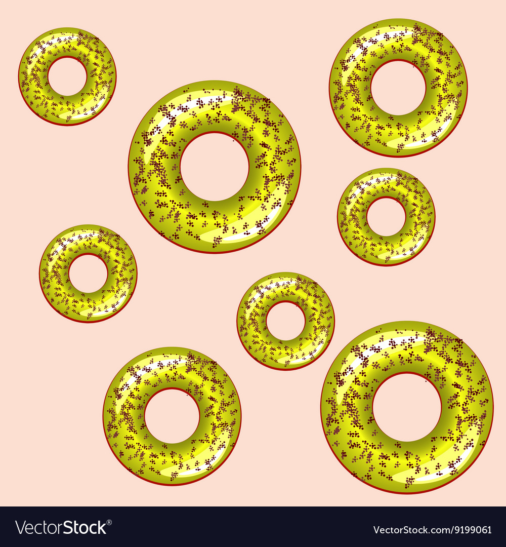 Color seamless pattern with donuts