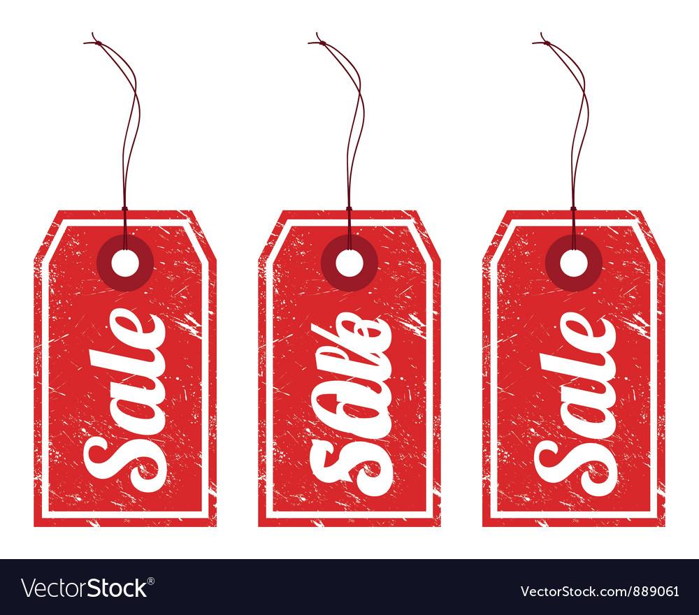 Sale vintage price tags vector image