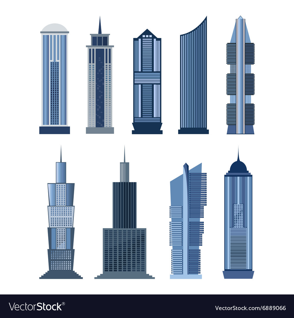 Collection of buildings for city design Royalty Free Vector