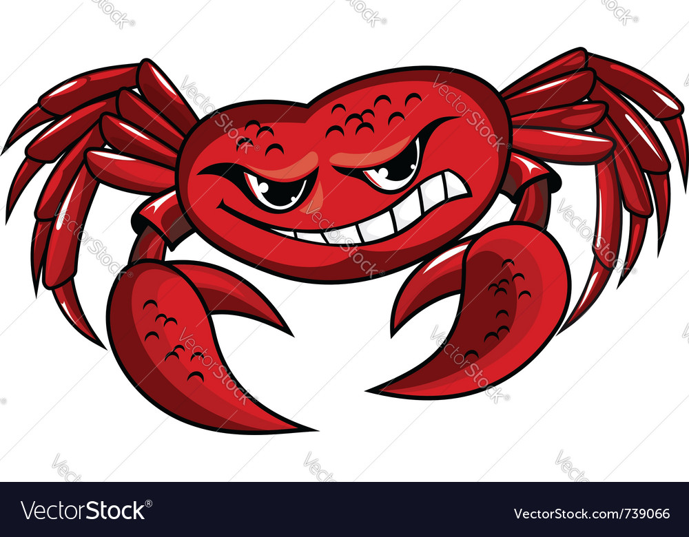 Crab mascot icon