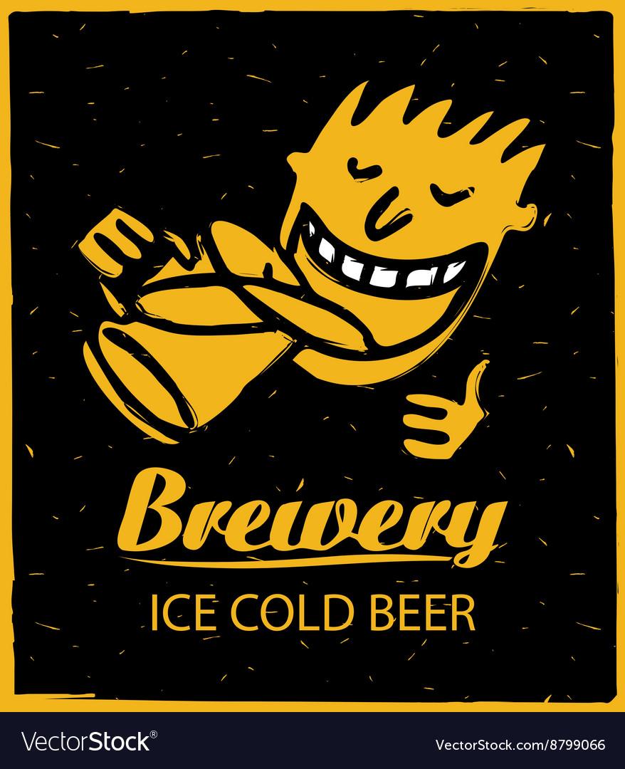 Human figures drinking beer vector image