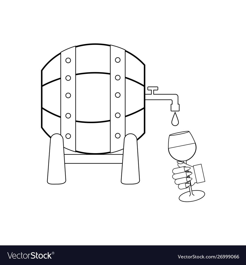 Wine barrel outline