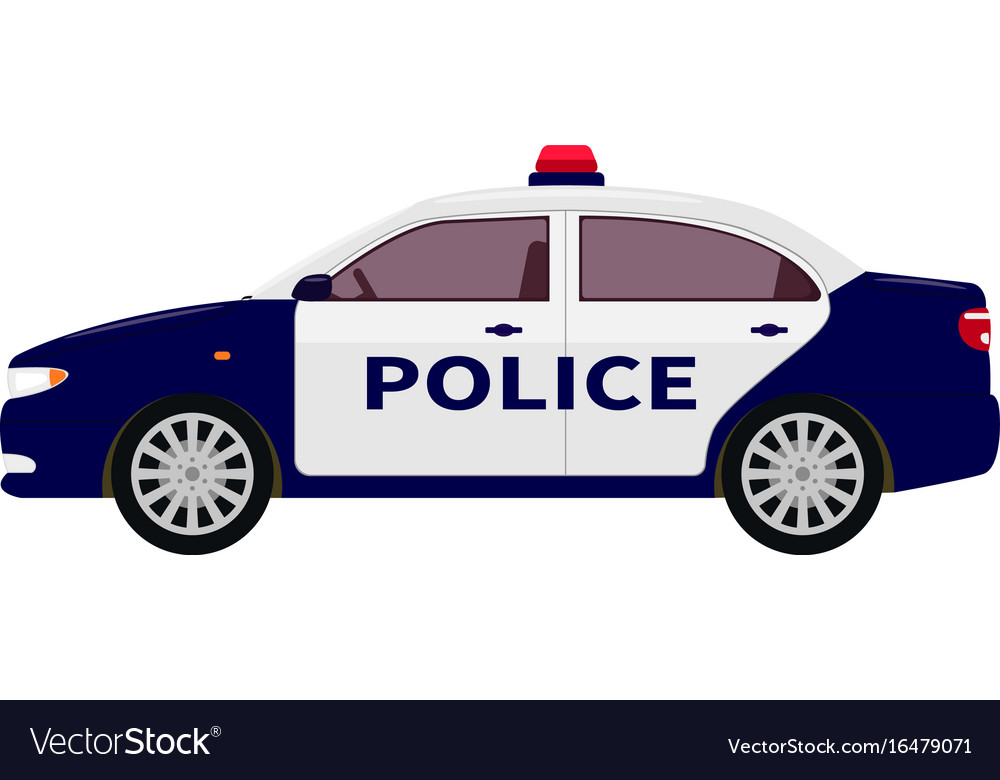 A Cartoon Police Car Royalty Free Vector Image