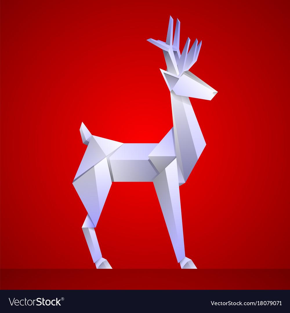 Origami Christmas.Christmas Reindeer Paper Origami