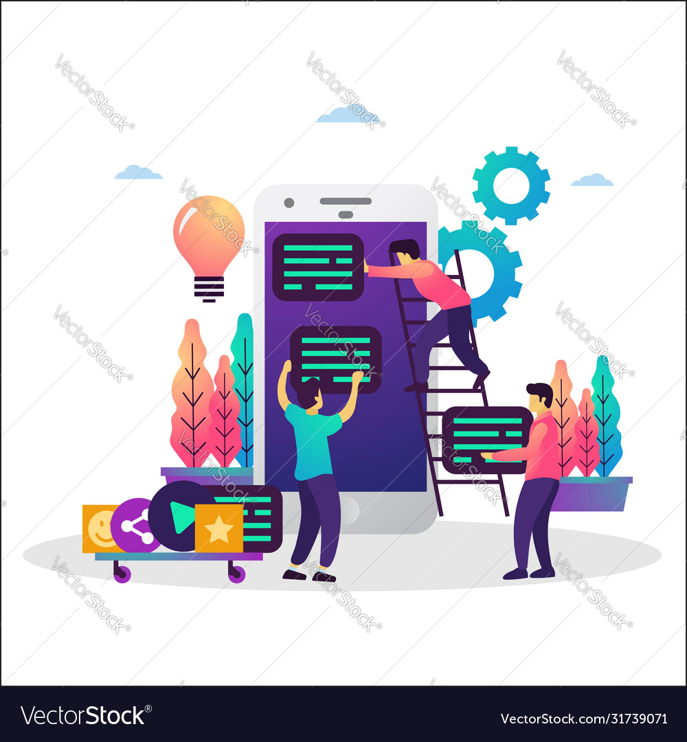 Co working team mobile app development