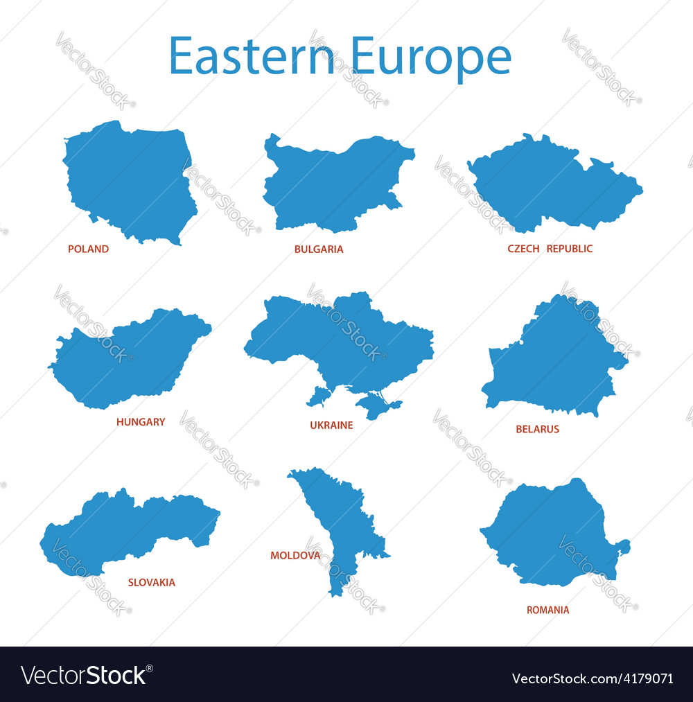 Eastern europe - maps of territories