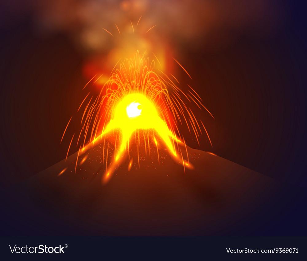 Eruption volcano