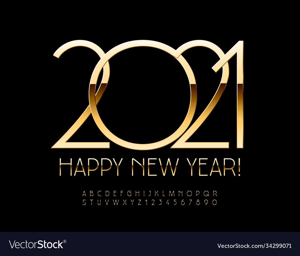 Luxury greeting card happy new year 2021