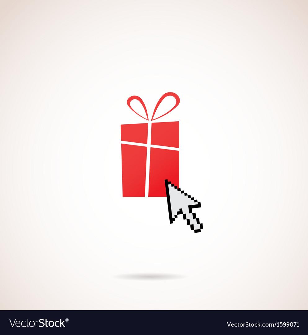 Christmas Arrow.Present With Computer Arrow Christmas And Holiday