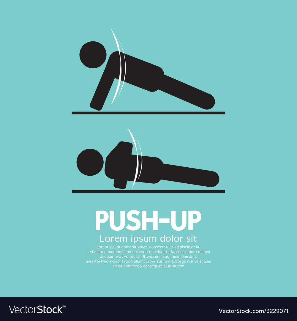 push up sport sign royalty free vector image vectorstock