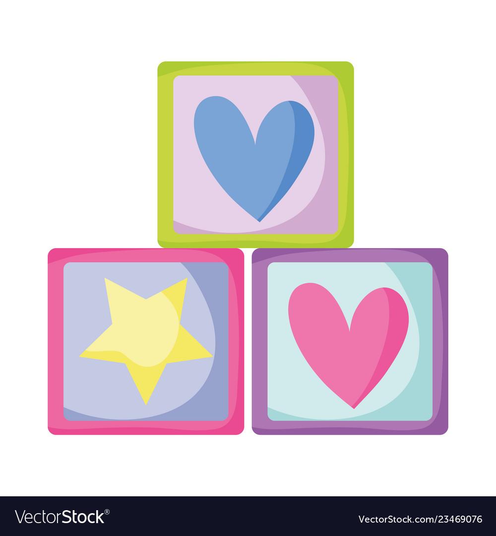 Blocks cubes toys icon