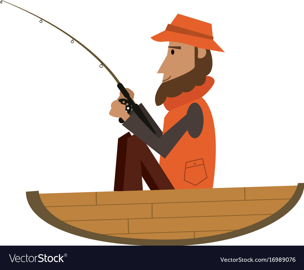 Fisherman on boat icon image