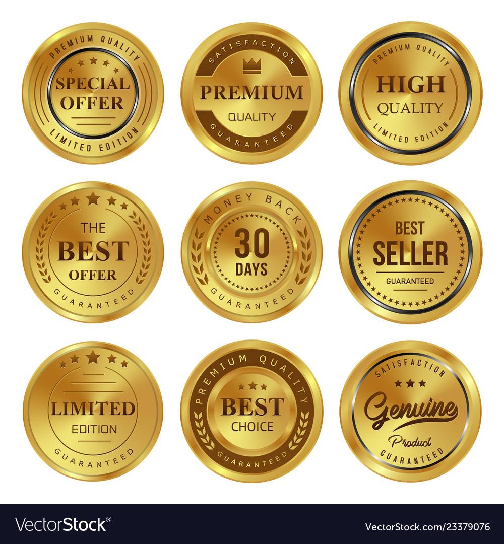 Gold badges labels