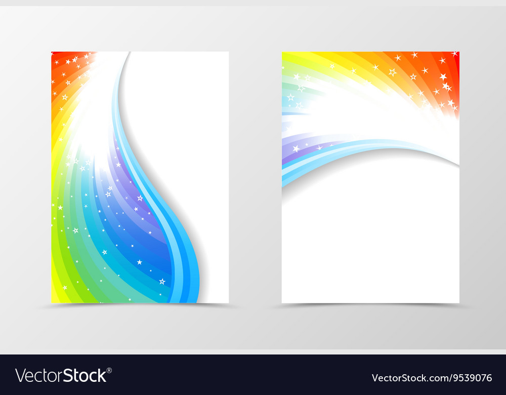 rainbow flyer template design royalty free vector image