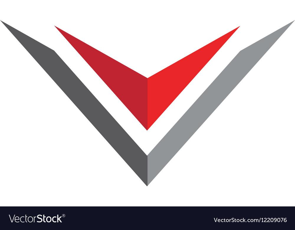 V letter logo business professional logo template vector image flashek Images