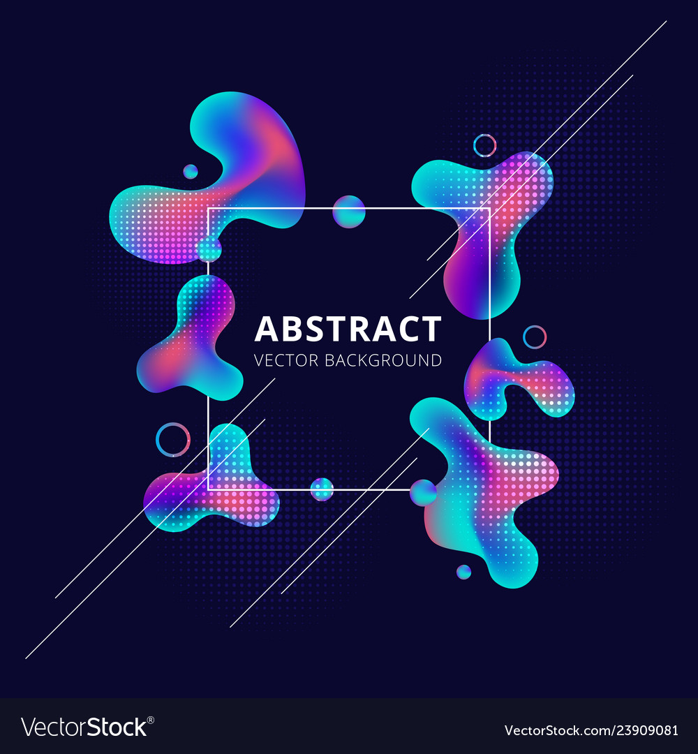 Abstract trendy fluid shape bright gradient