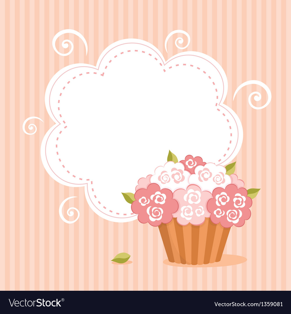 Background with birthday cupcake