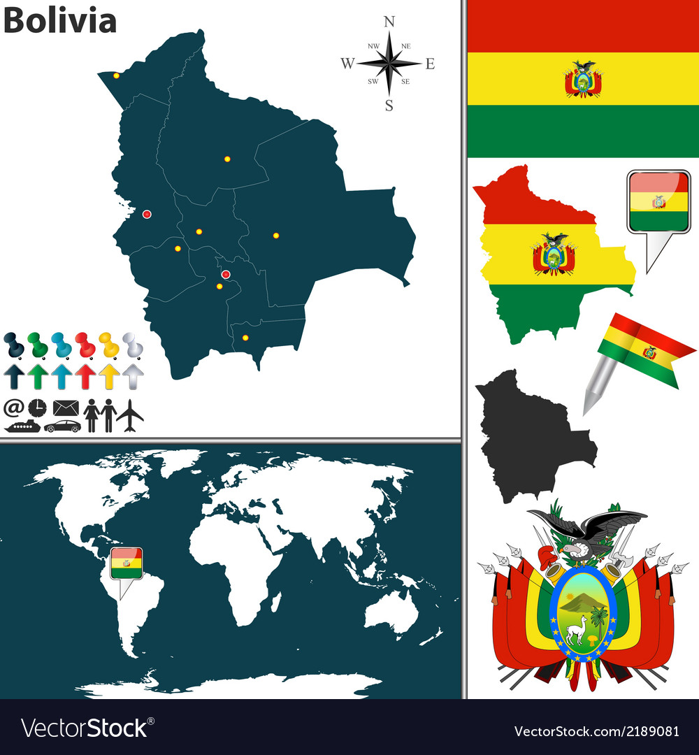 Picture of: Bolivia Map World Royalty Free Vector Image Vectorstock