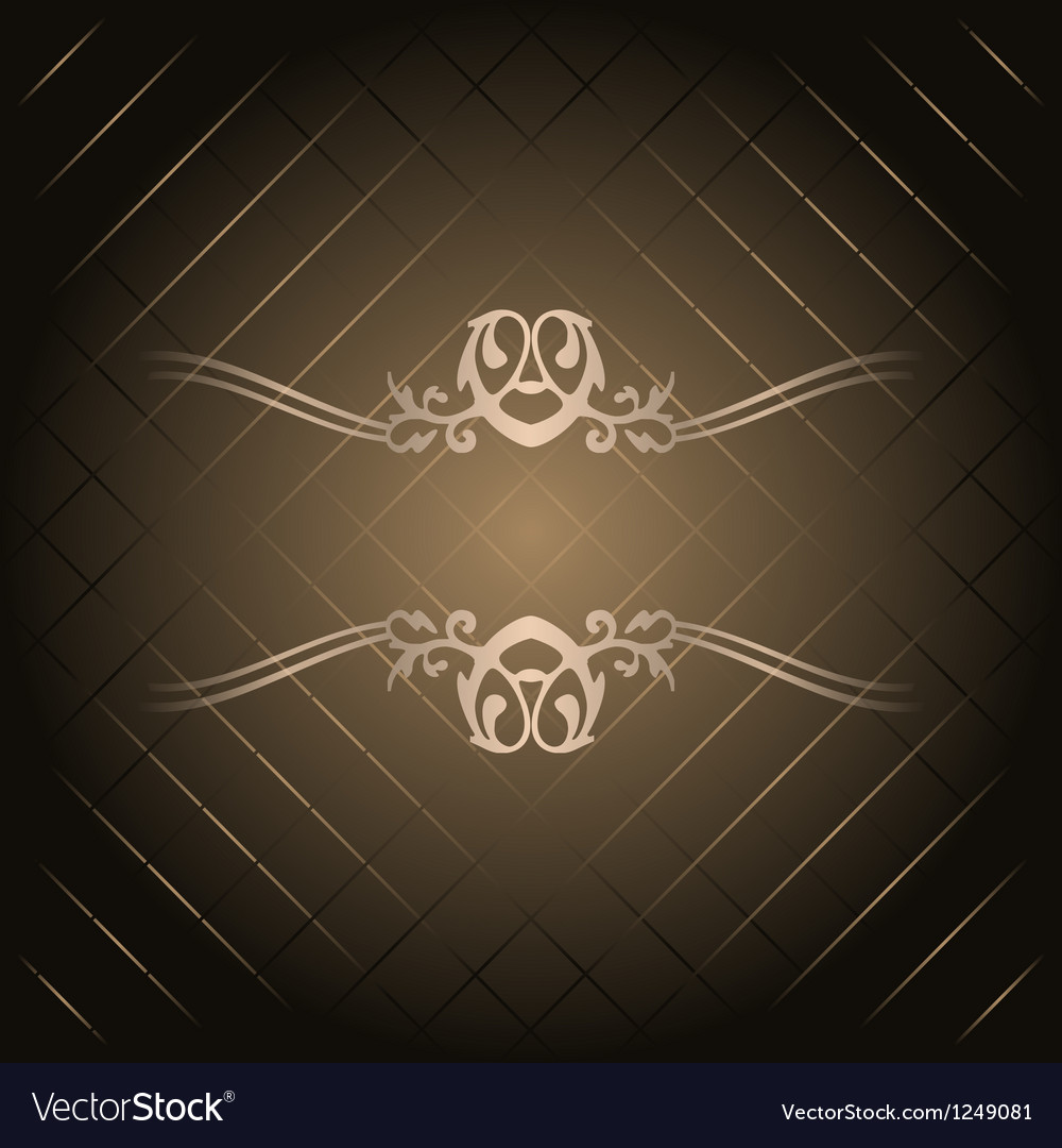 Brown background with gold ornament