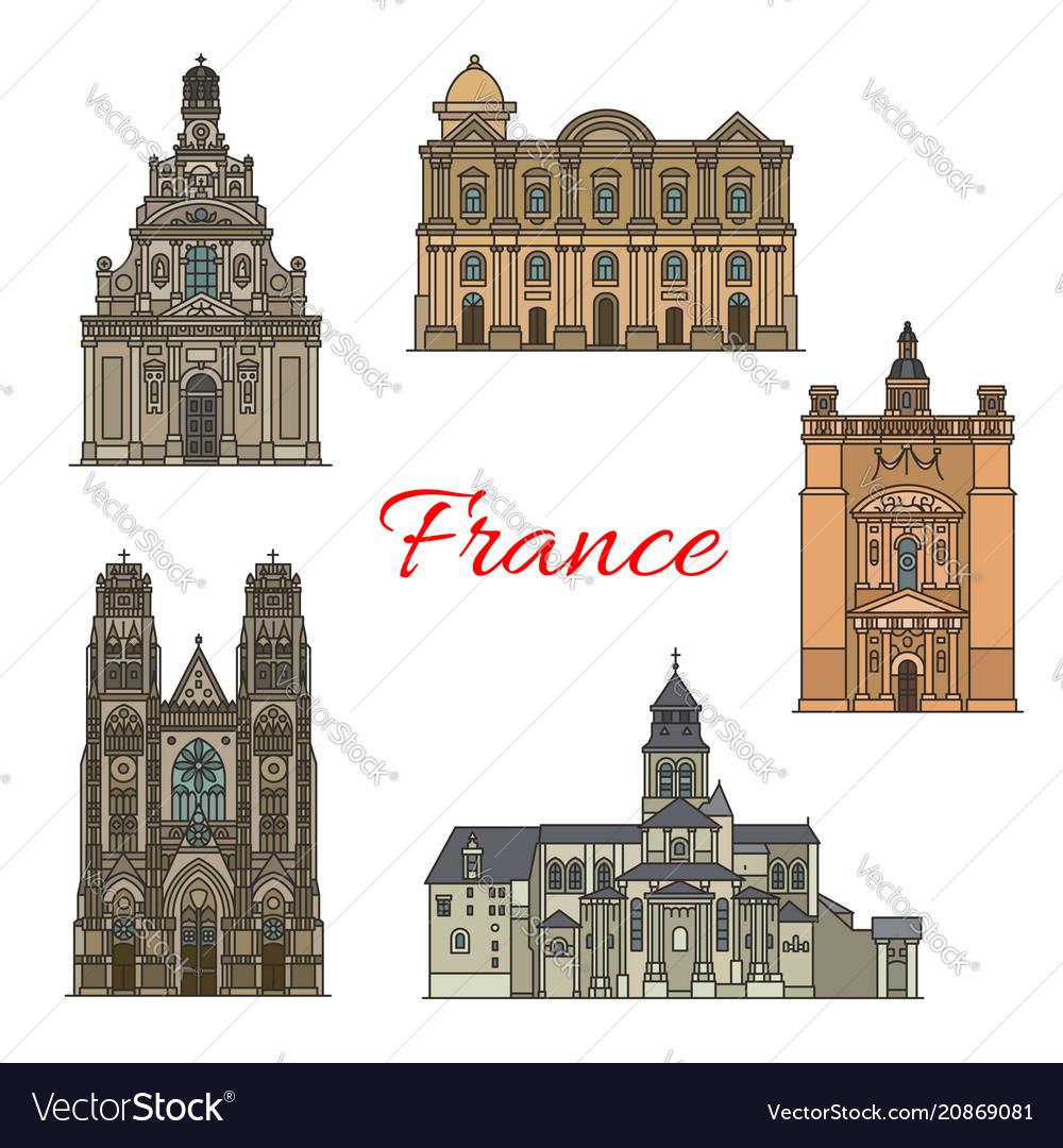 French travel landmark icon for religious tourism
