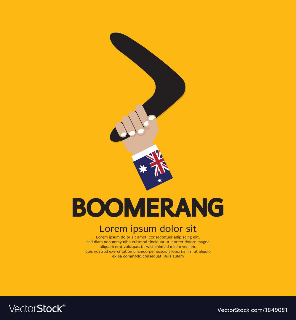 Hand Holding A Boomerang