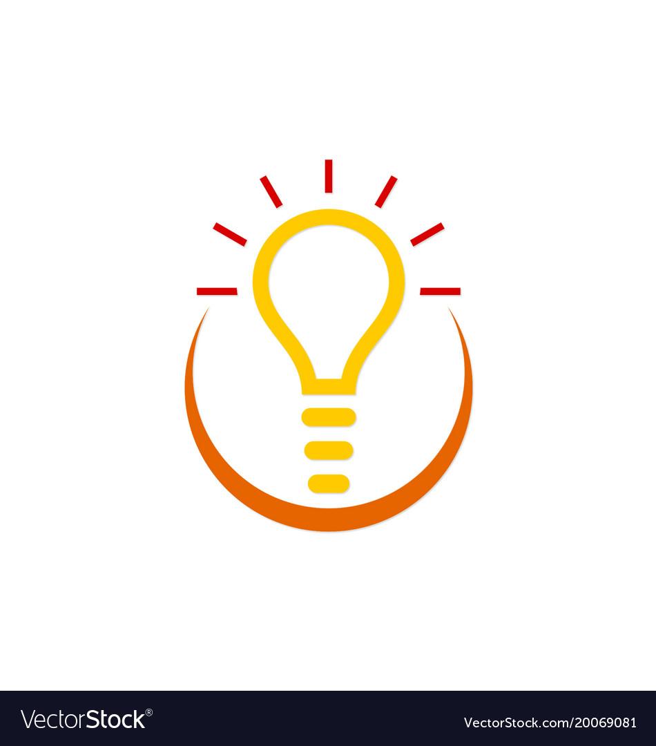 Idea creative light bulb logo