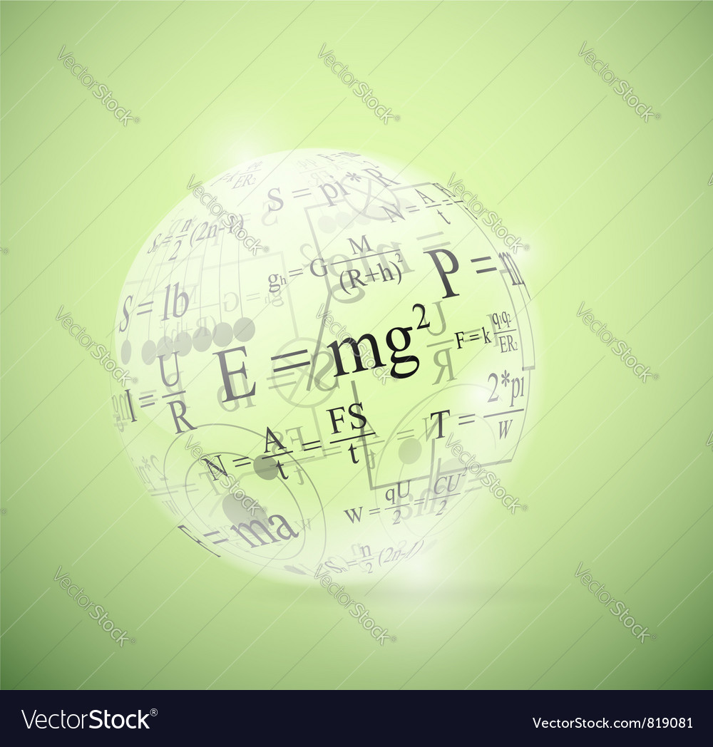 Physical sphere vector image