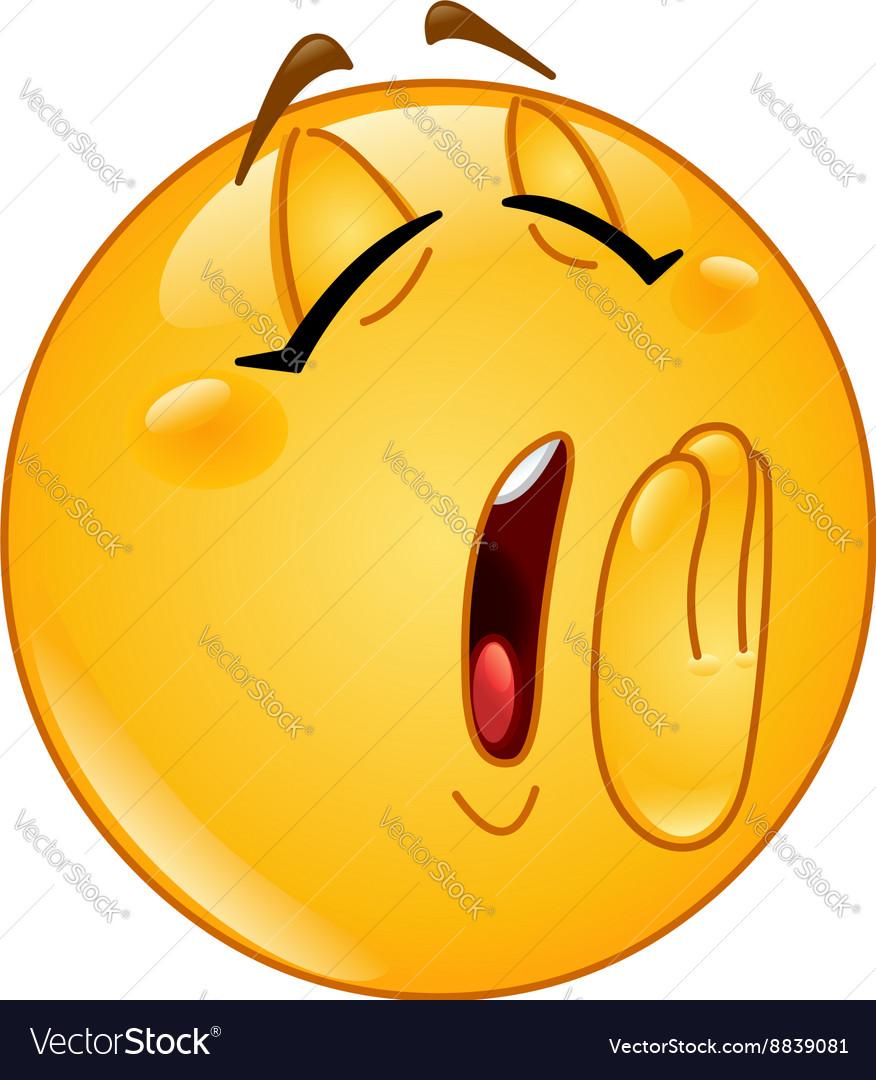 Yawn female emoticon