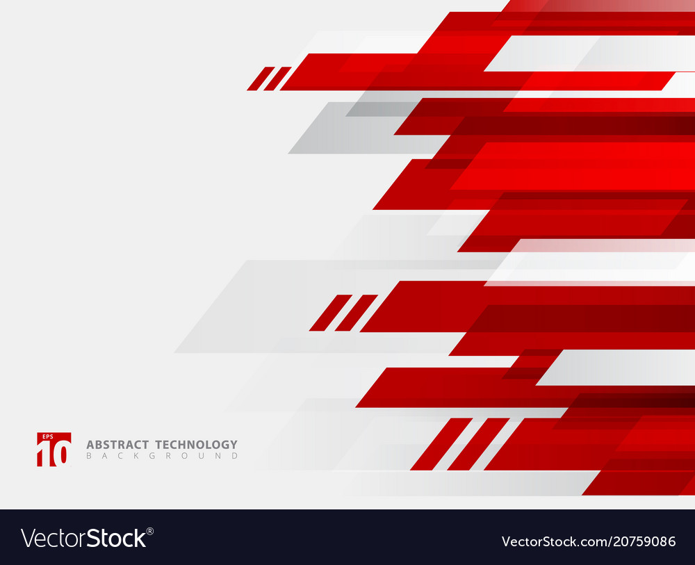 Abstract technology geometric red color shiny