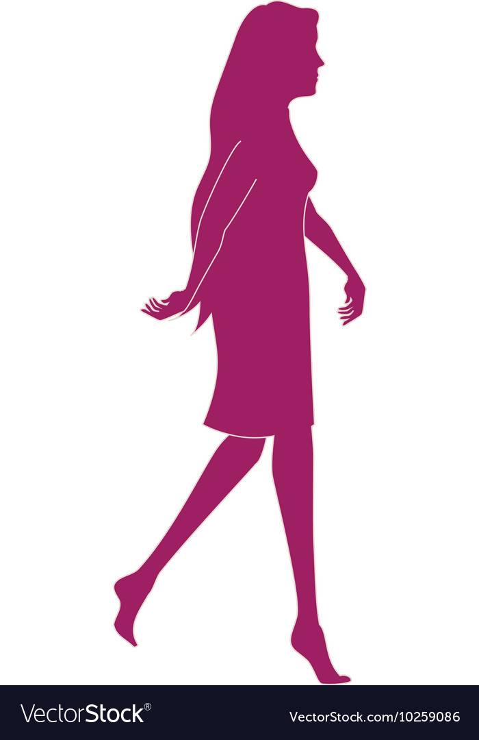 Girl walk lady female vector image