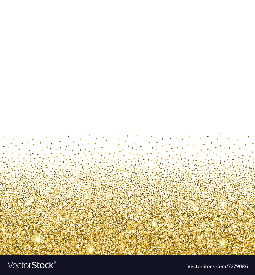 Elegant Gold Glitter Background Vector Image