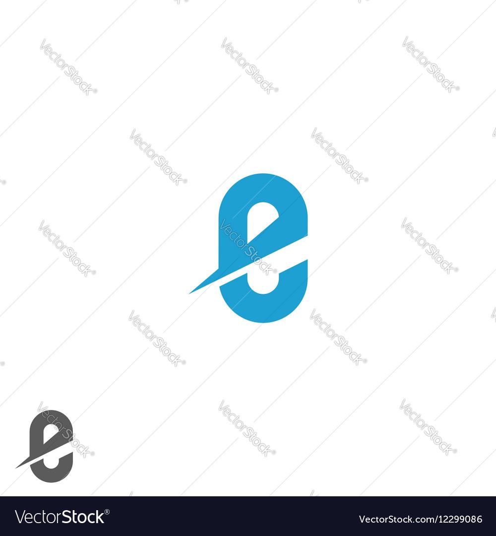 Letter E logo blue mockup direction web emblem