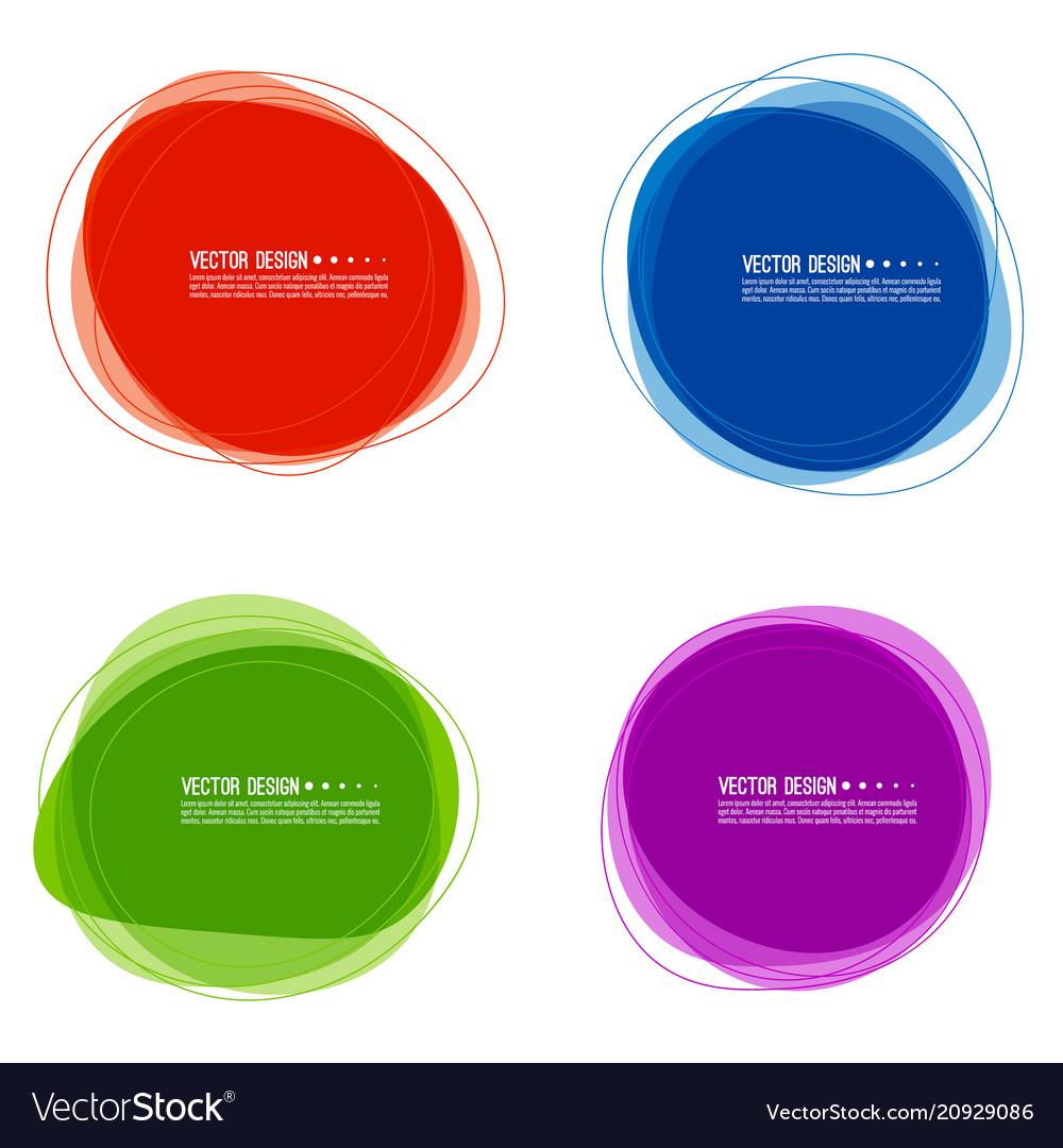 Set of colorful circular banners