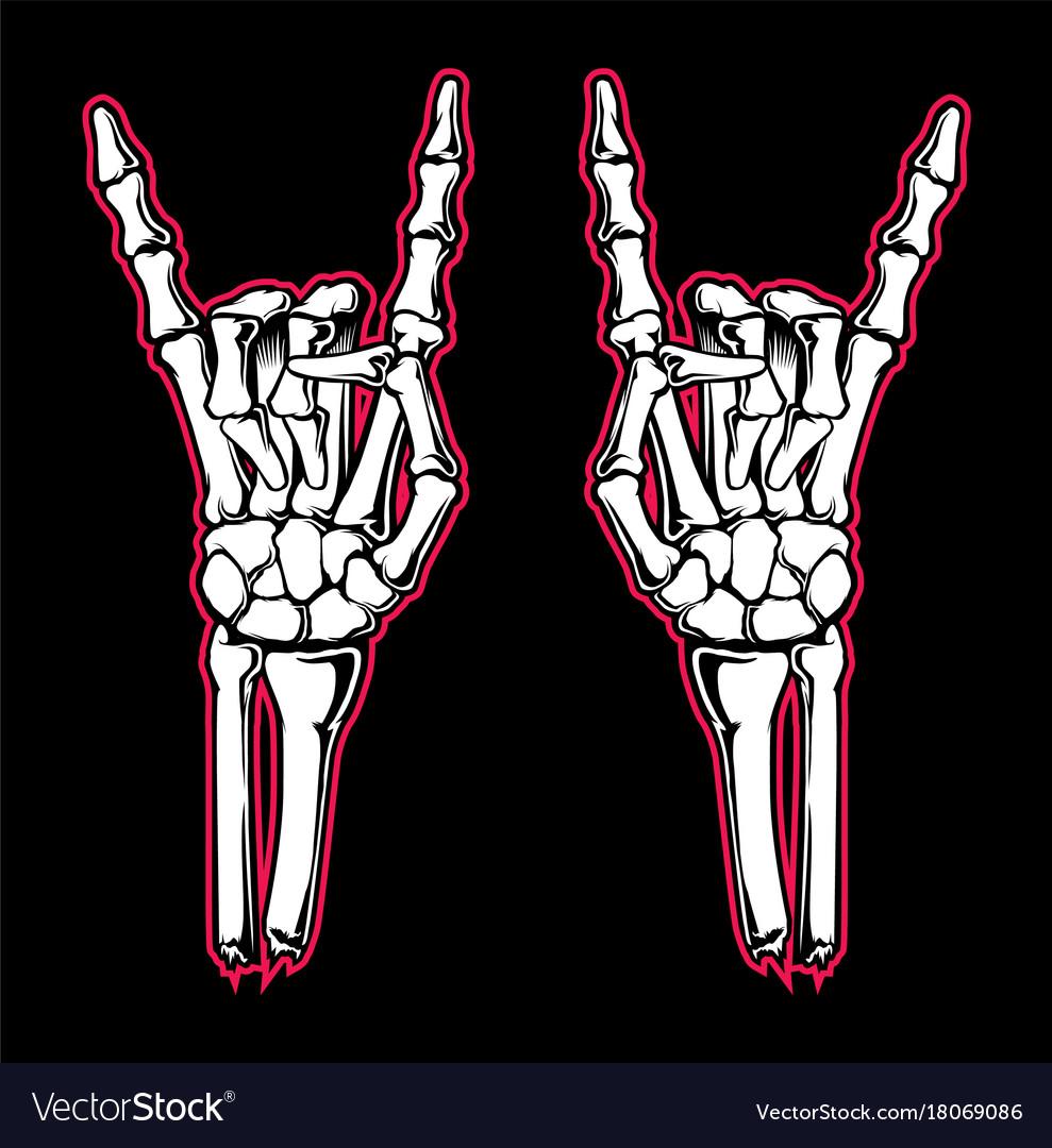 Skeleton hand vector image
