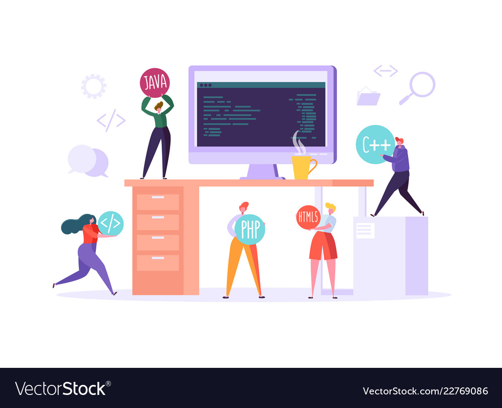 Software web page programming concept programmer