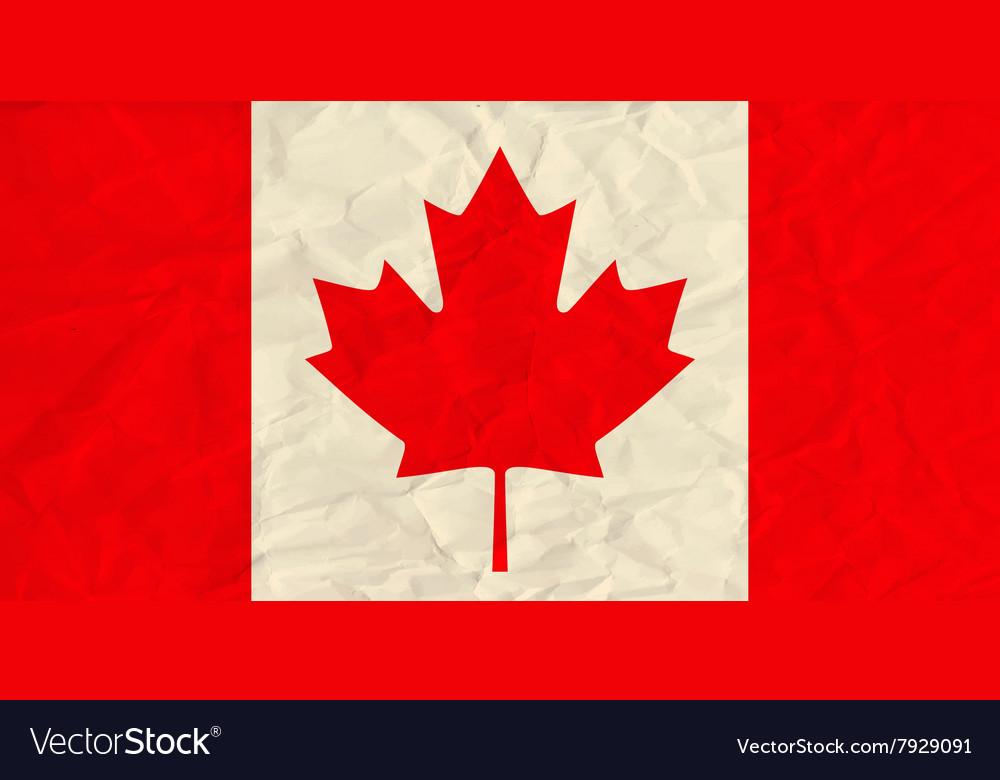 Canada paper flag