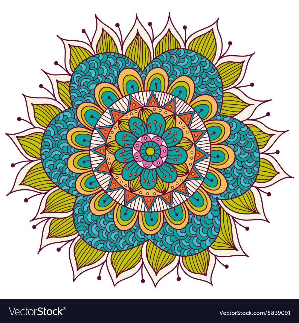 Colorful Floral Mandala