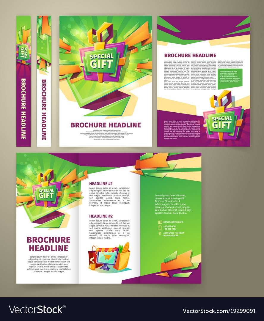 flyer for sales promotion brochure royalty free vector image