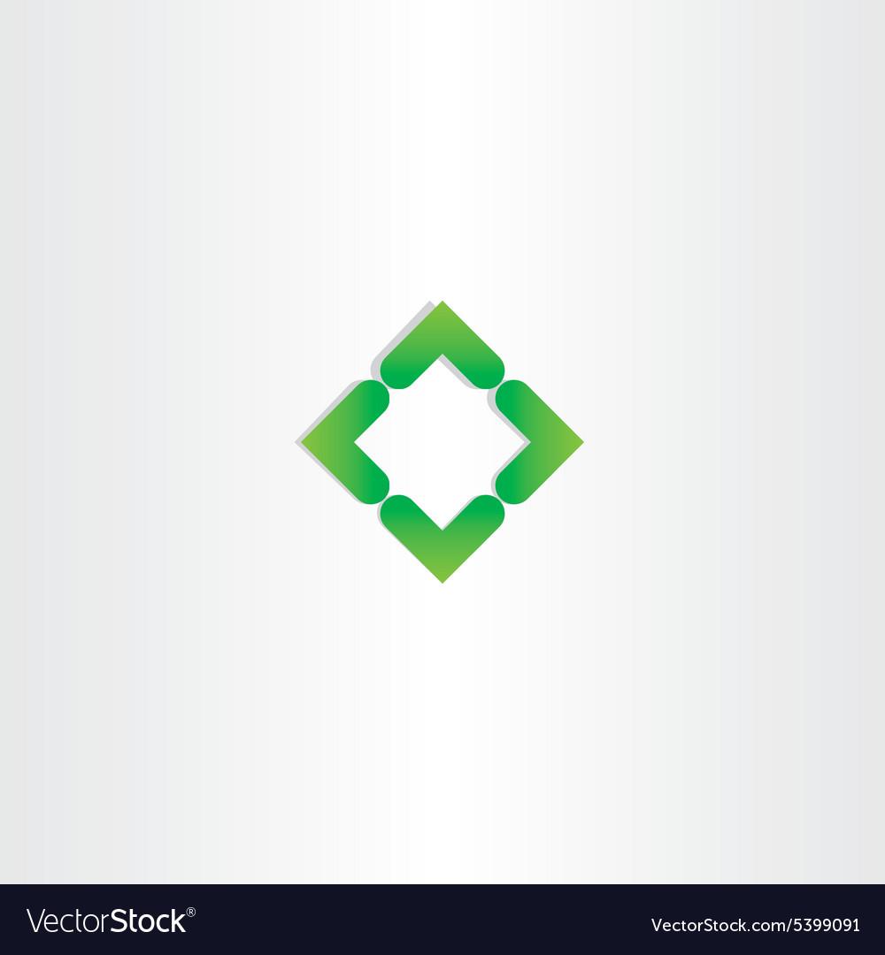 Green gradient square business logo design vector image