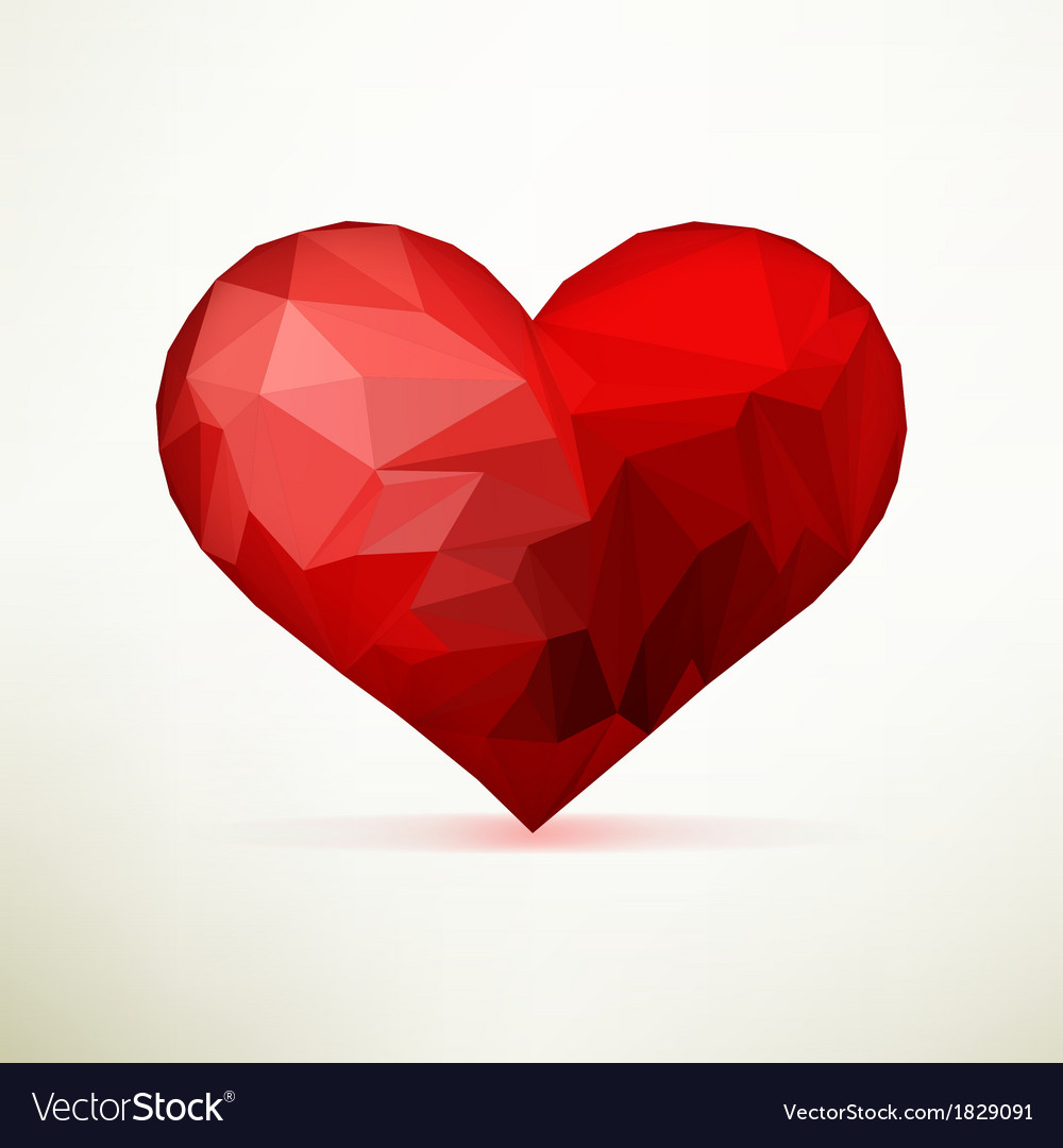 origami heart template design eps10 royalty free vector