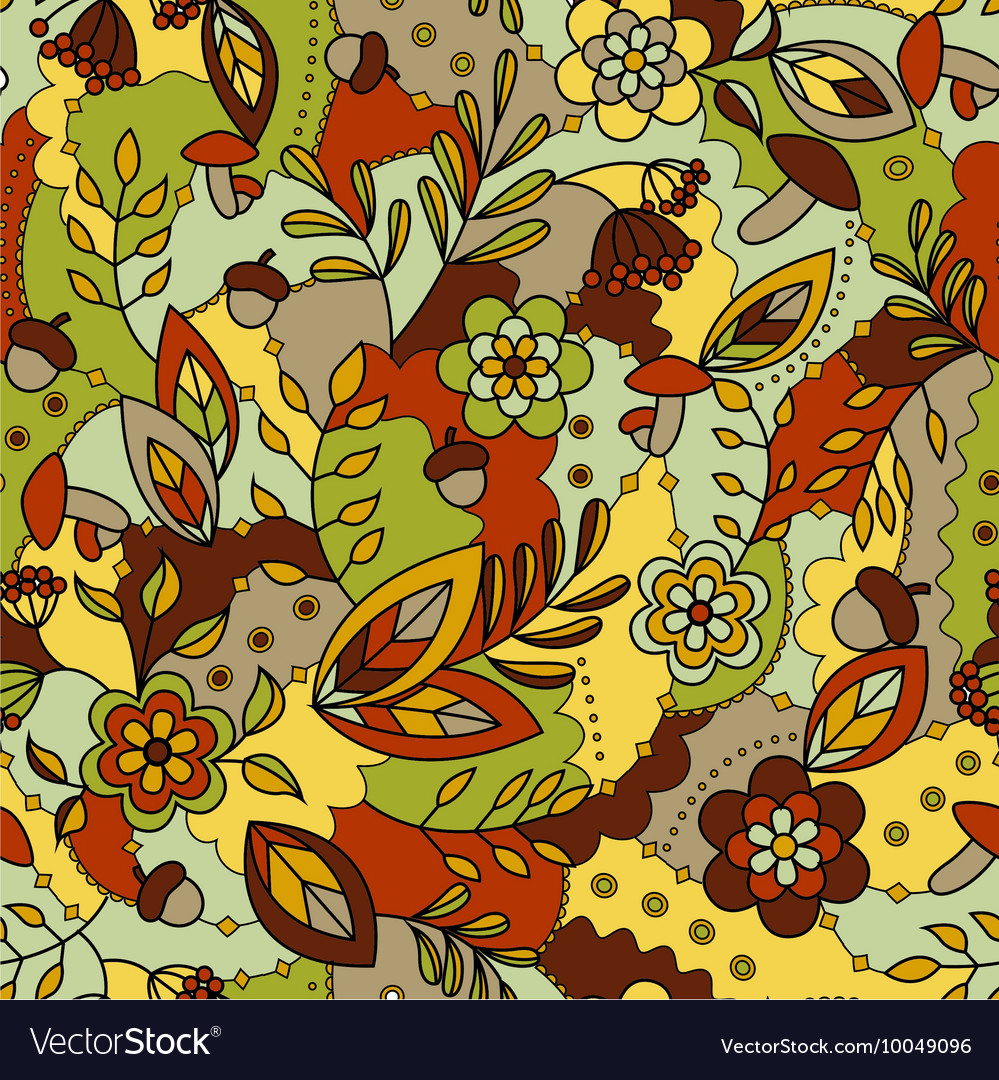 Autumn seamless pattern colorful
