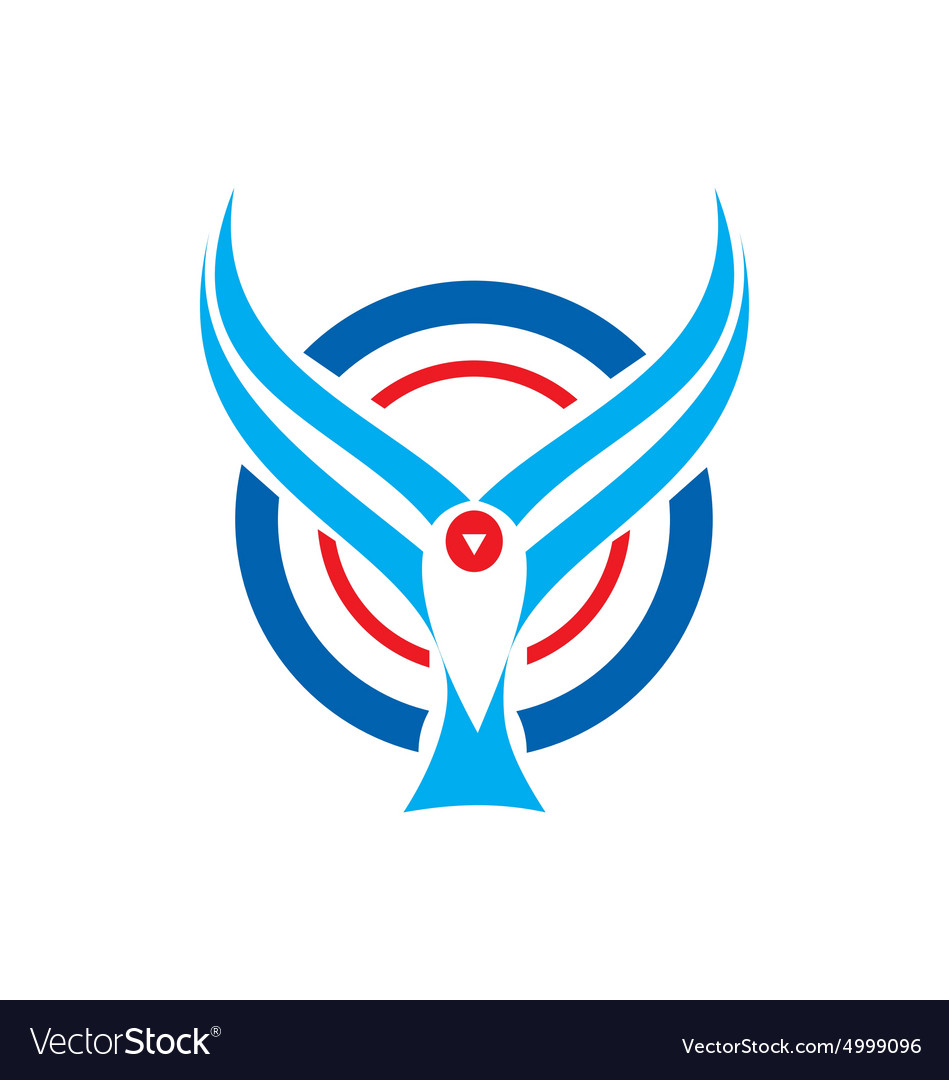 Bird fly aviation logo