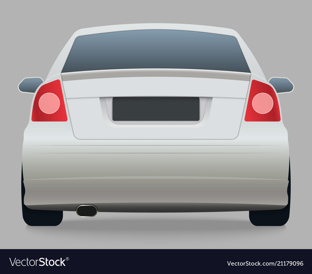 Car template on white background